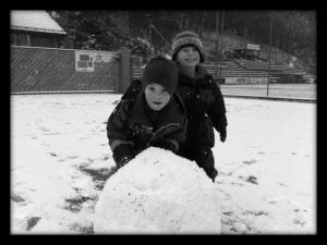 Snølek i barnehagen
